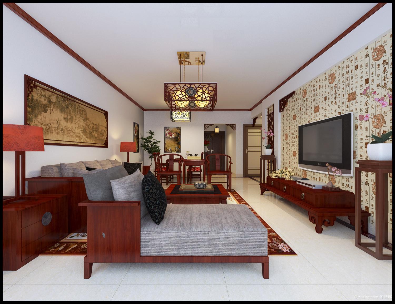 西子御园中式风格装修效果图实景图