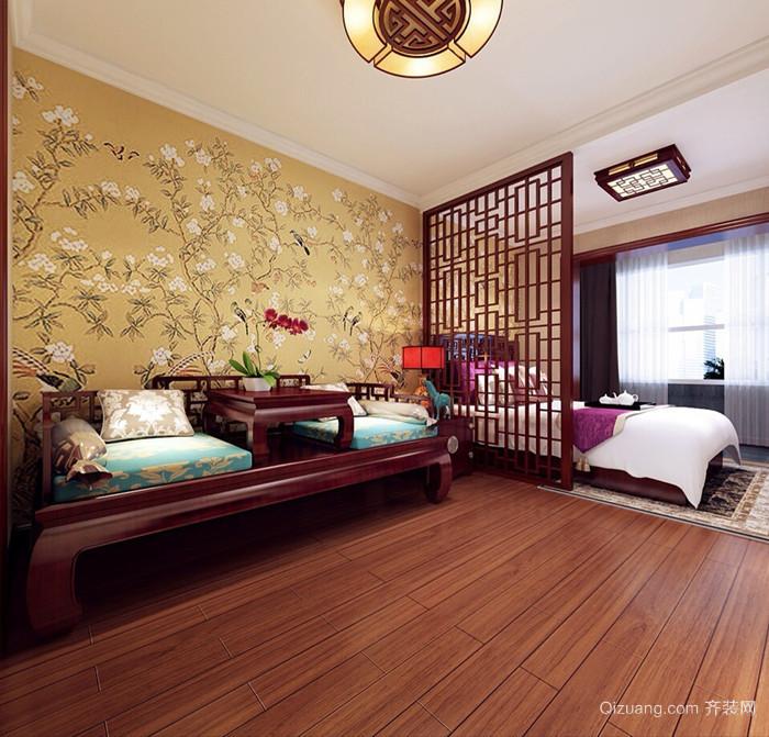 天伦金三角银座公寓中式风格装修效果图实景图