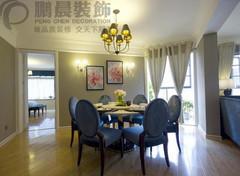 芜湖东城豪庭 140平美式风格装修效果图案例