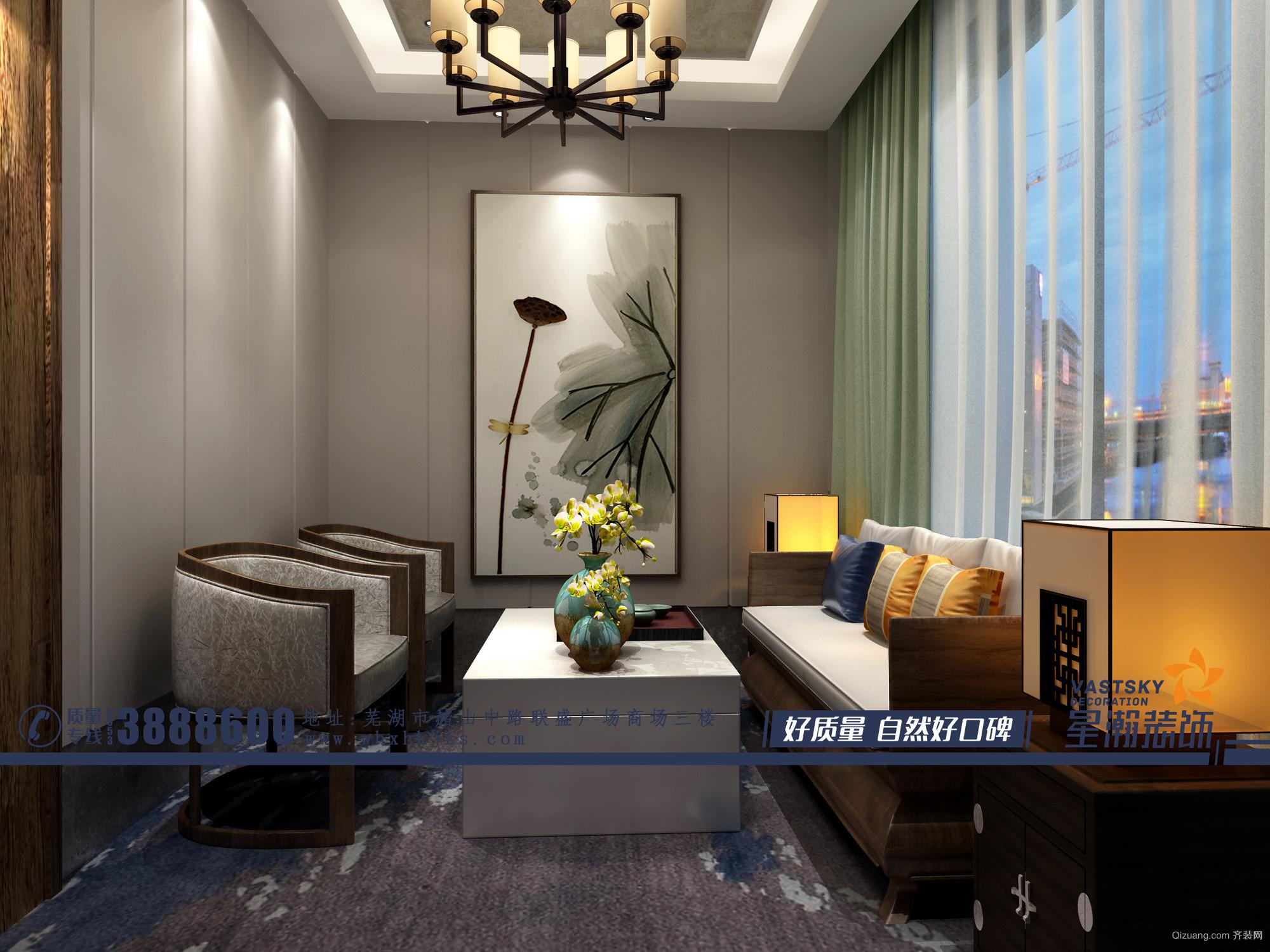 寿县茶楼中式风格装修效果图实景图