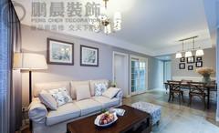 芜湖中央城84平美式风格装修效果图案例