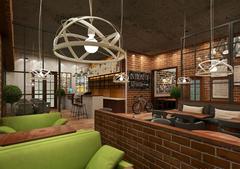 混搭风格-单车咖啡厅