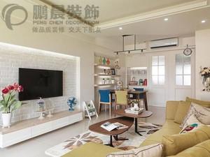 芜湖长江湾1号87平混搭风格装修效果图案例