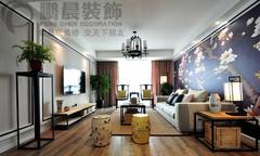 芜湖左岸生活117平中式风格装修效果图案例