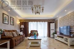 芜湖城市之光131平美式风格装修效果图案例