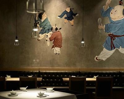 上饶中式餐厅装修设计案例