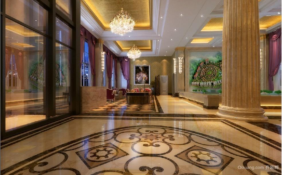 售楼处欧式风格装修效果图实景图