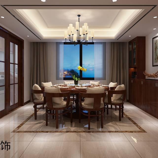 南雷公寓150㎡普通戶型中式風格裝修案例