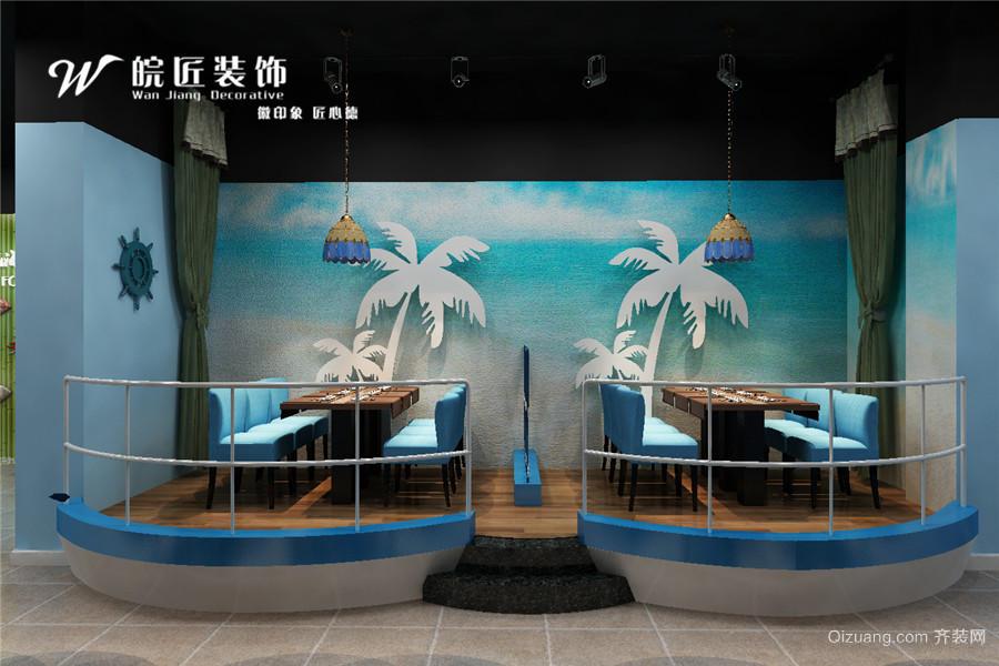 包河万达广场商铺现代简约装修效果图实景图