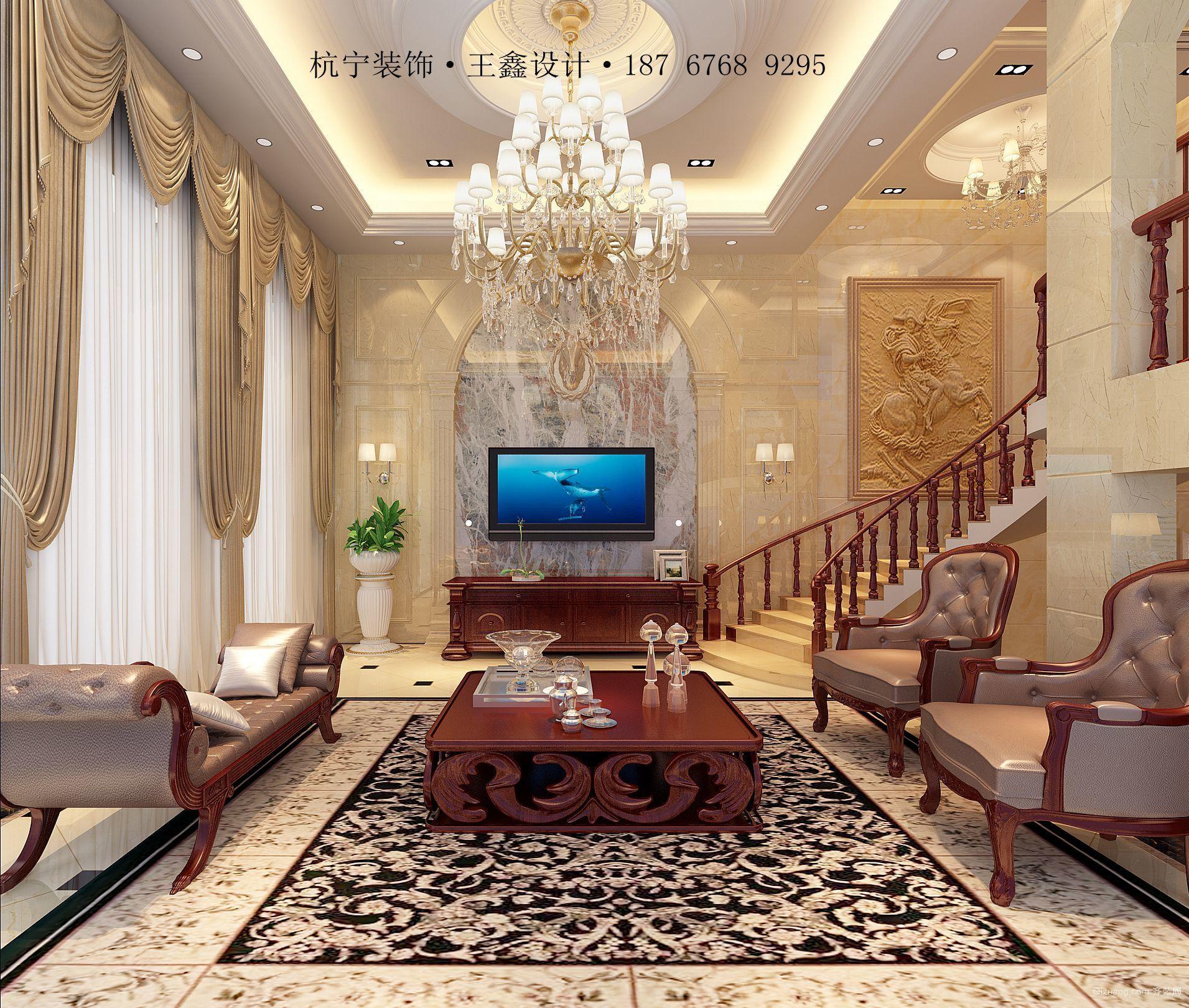 翡翠湾别墅欧式风格装修效果图实景图