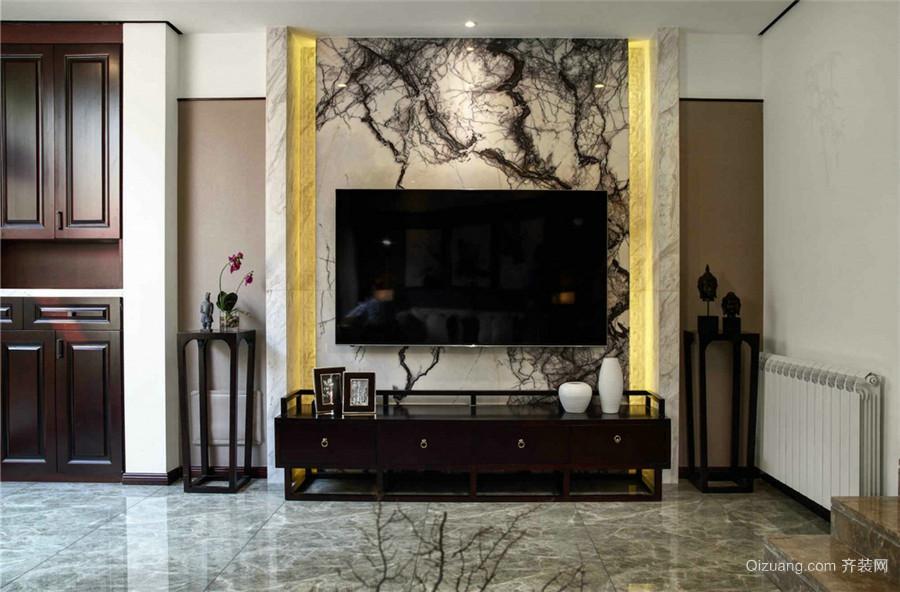 湘水明珠中式风格装修效果图实景图