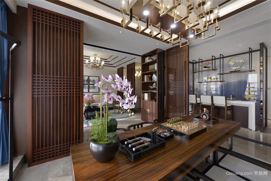 香江水岸新城中式风格装修效果图实景图
