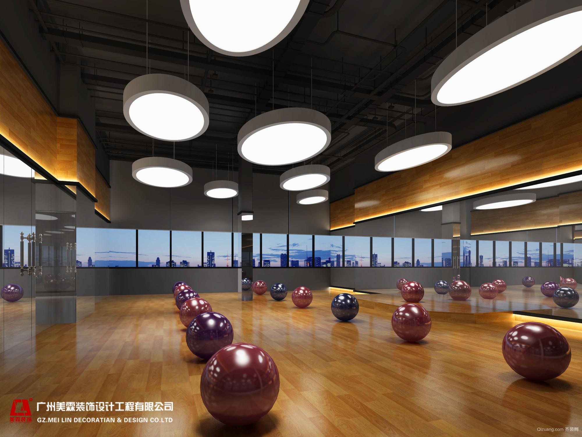 肇庆爱尚国际健身房混搭风格装修效果图实景图