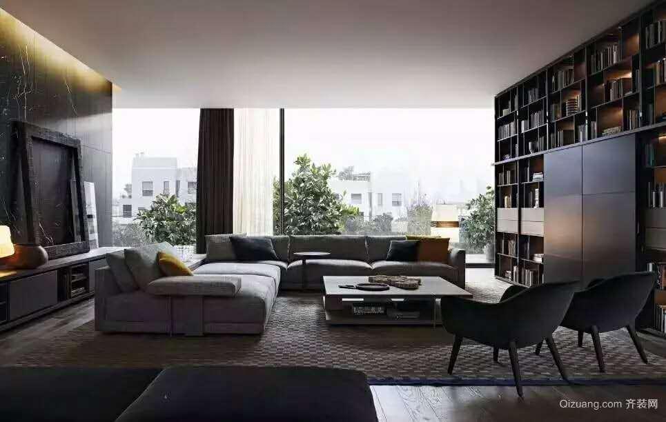 高端局 客厅2现代简约装修效果图实景图