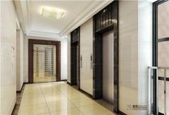 现代简约-皇城汇景住宅楼入户门厅