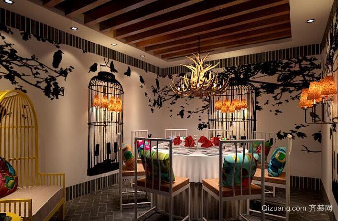 私房菜馆混搭风格装修效果图实景图
