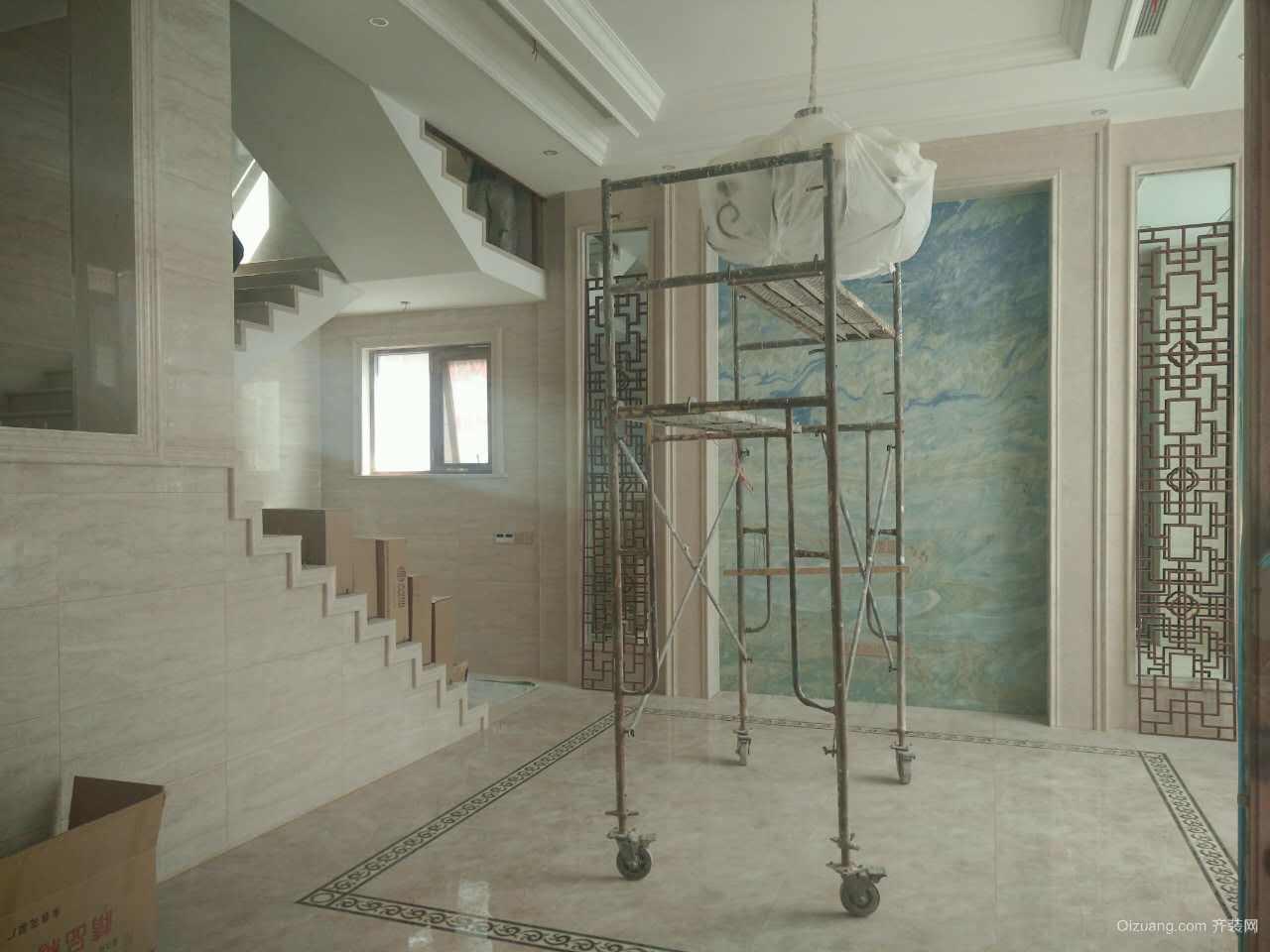 雪堰别墅中式风格装修效果图实景图