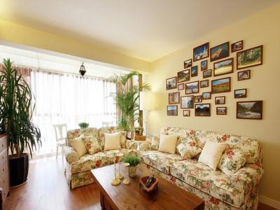 杭州40㎡兩室一廳田園風裝修設計案例