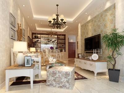 合川玫瑰园两室装修设计案例