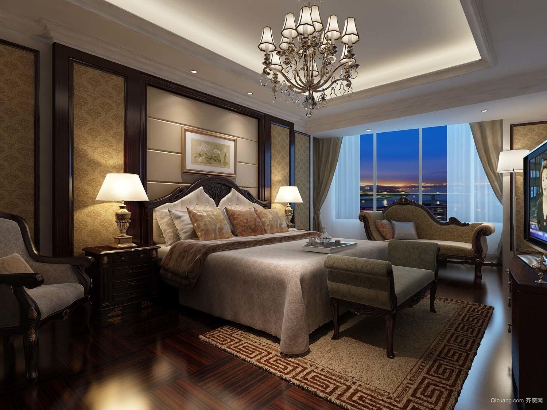 广州万达文化旅游城住宅古典风格装修效果图实景图