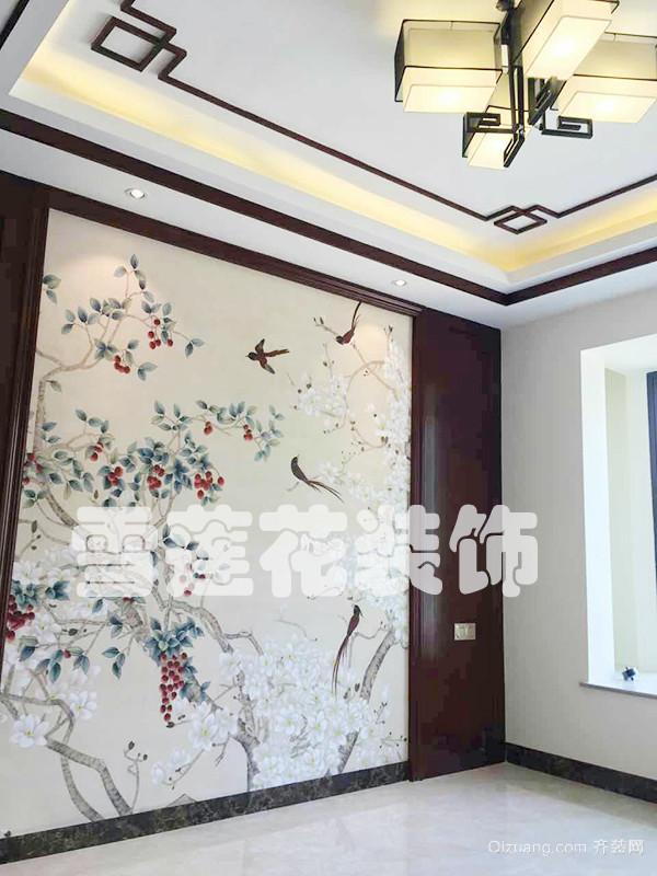 书香铭郡中式风格装修效果图实景图