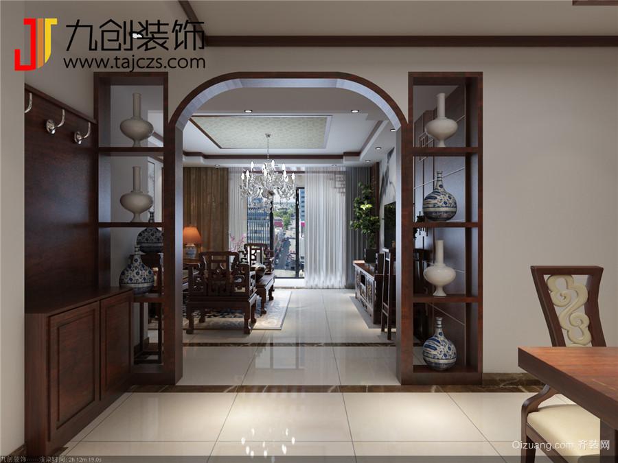 葛洲坝·保利曼城中式风格装修效果图实景图
