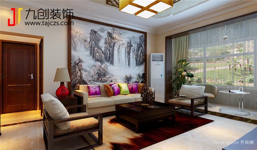 美悦湾中式风格装修效果图实景图
