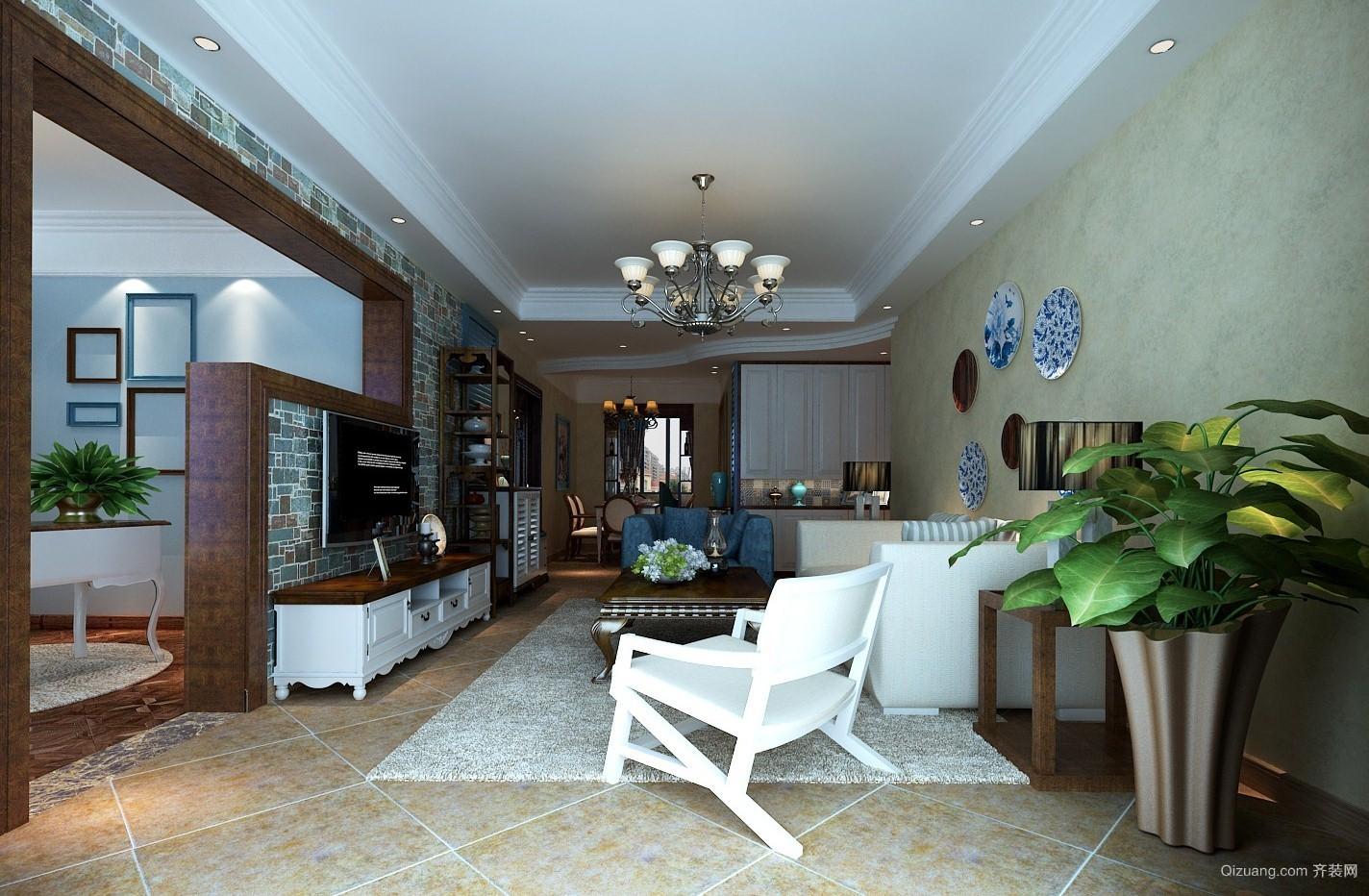 和欣家园美式风格装修效果图实景图