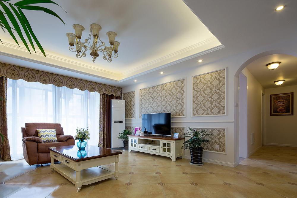 华夏世纪锦园欧式风格装修效果图实景图