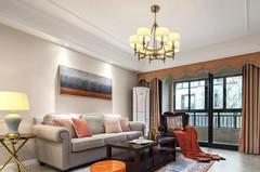美式风格-水韵天成145平美式风格四房两厅装修 漫步田野