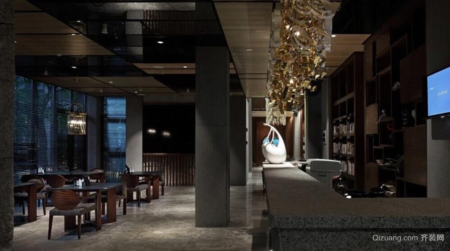 高级咖啡厅古典风格装修效果图实景图
