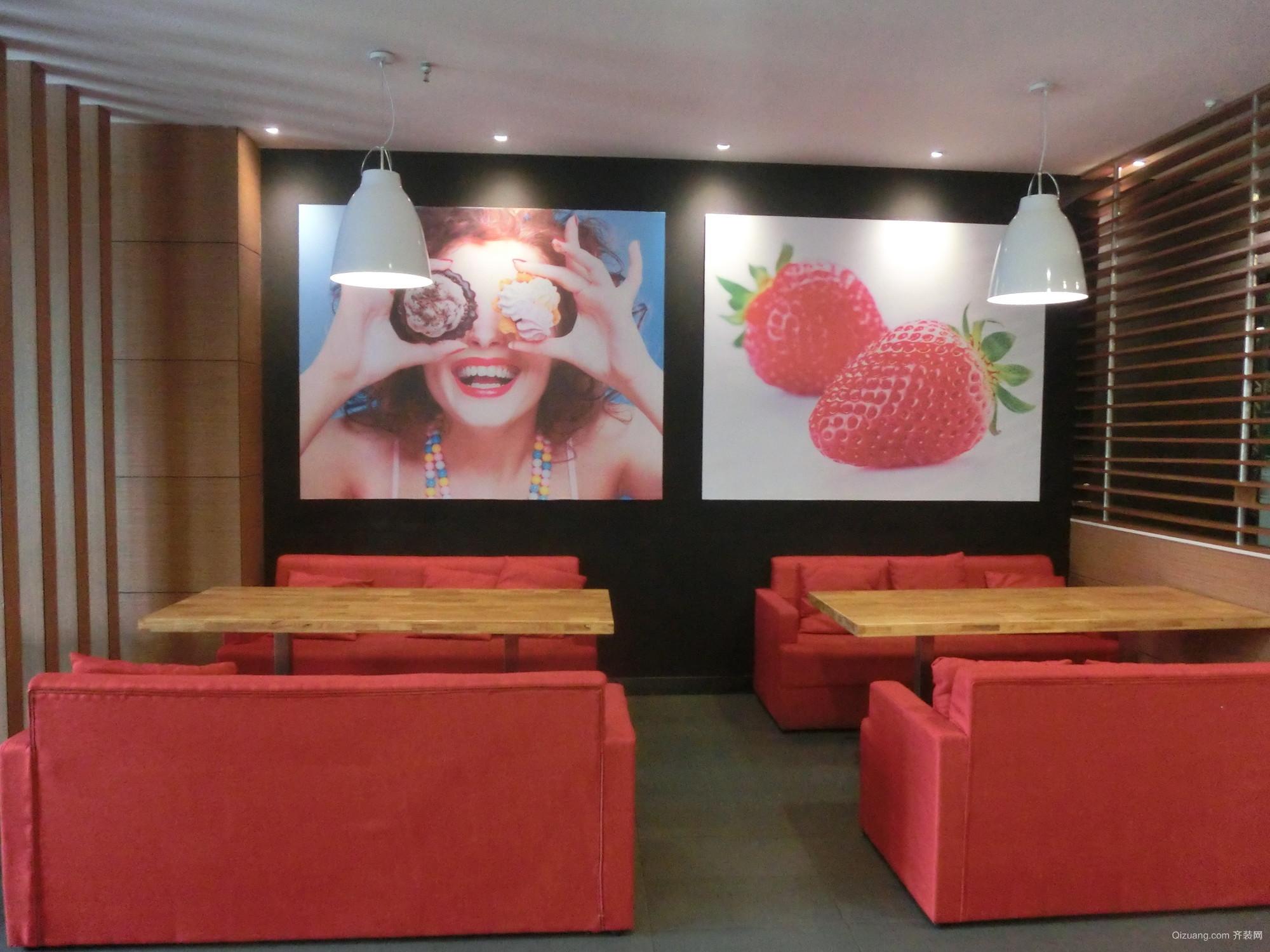 学生街麦多餐厅现代简约装修效果图实景图