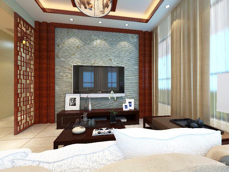 川海·汇景龙湾中式风格装修效果图实景图