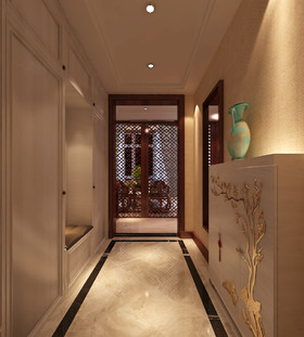 一世界洋房300平-中式风格