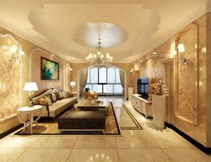 张家界128㎡欧式风格装修效果图