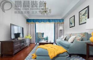 新华联梦想城128平美式风格装修效果图案例