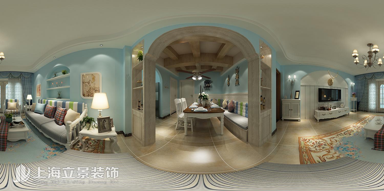 美伦阳光园4#地中海风格装修效果图实景图