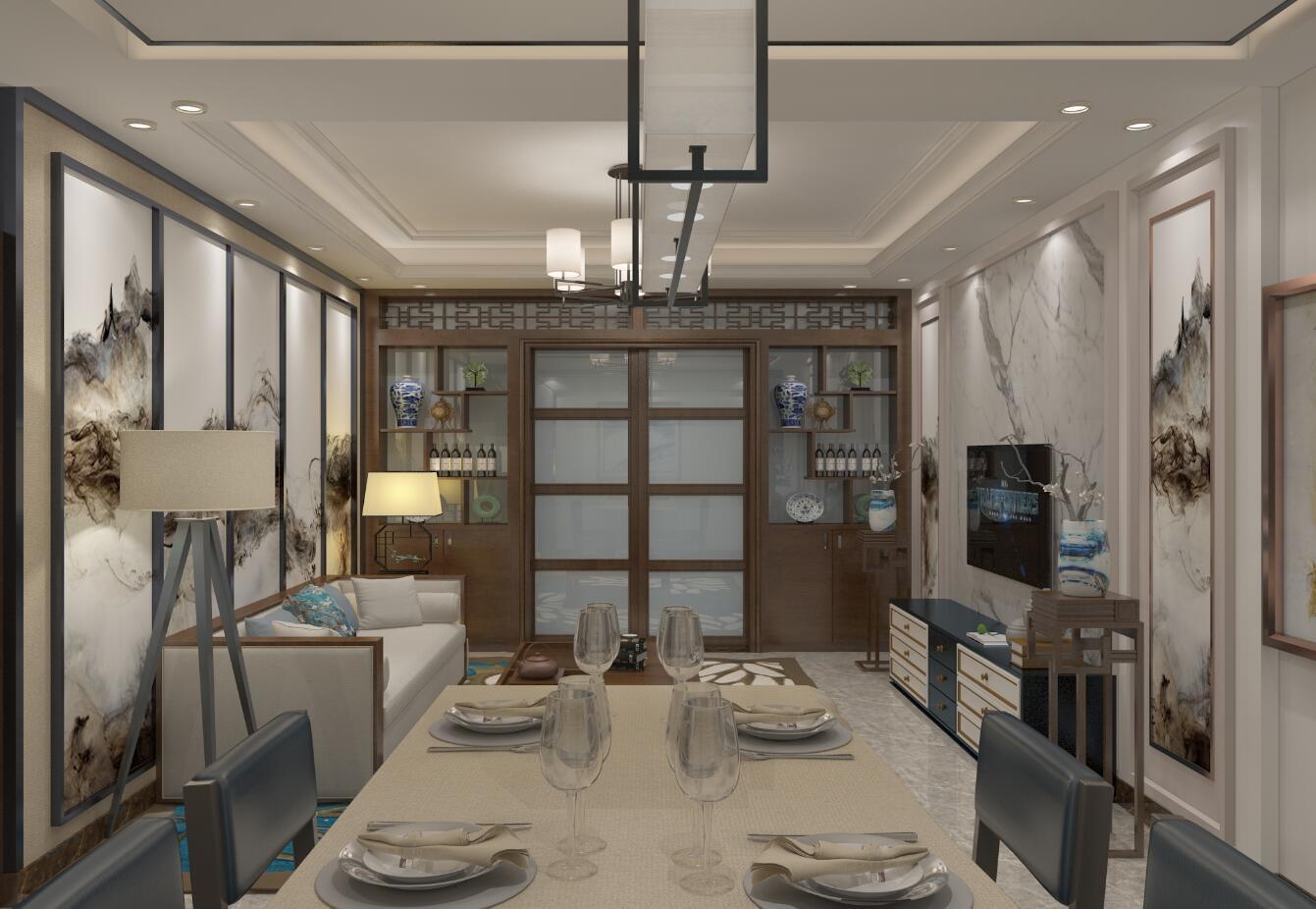 东方新城中式风格装修效果图实景图