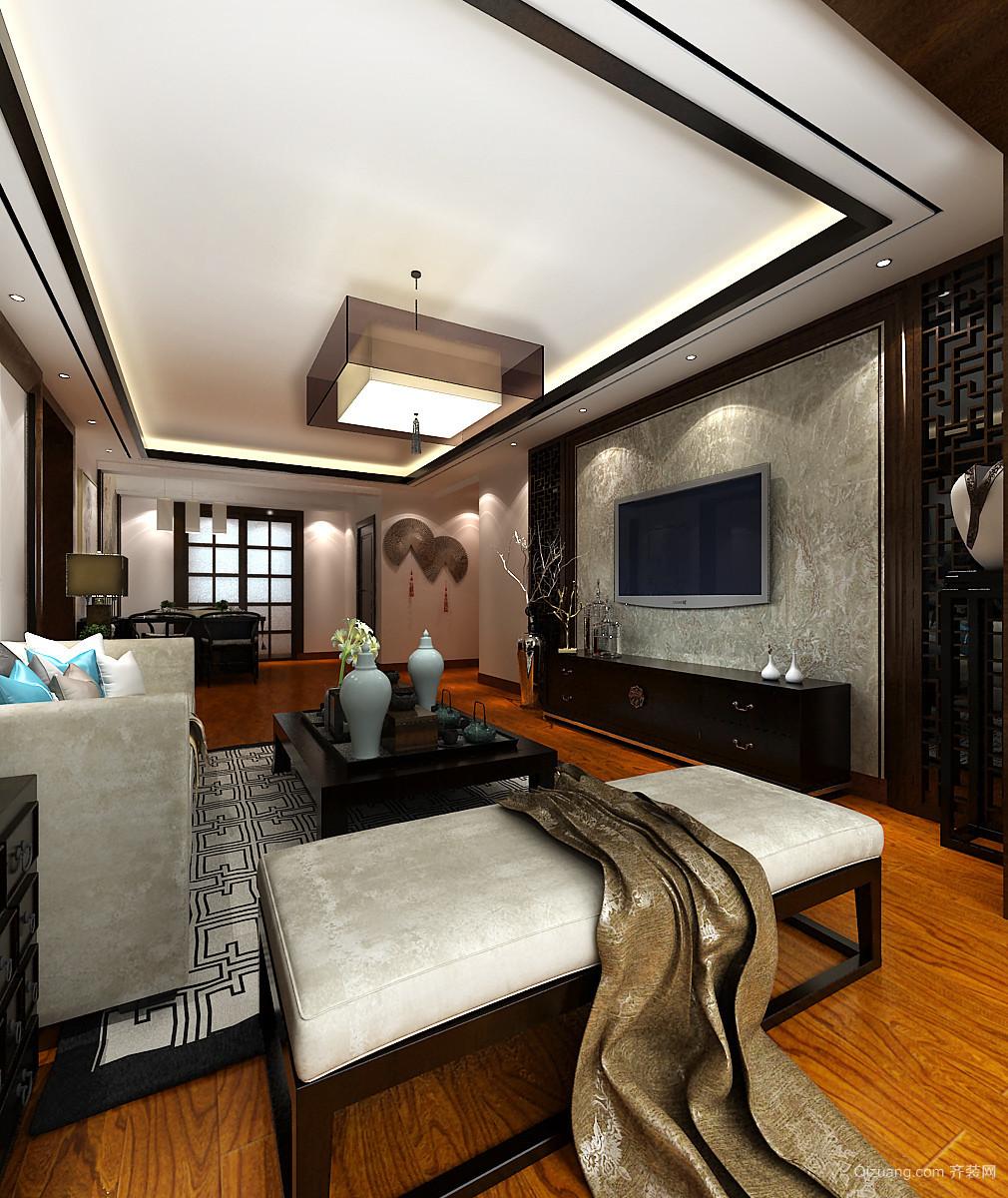 京润现代城中式风格装修效果图实景图