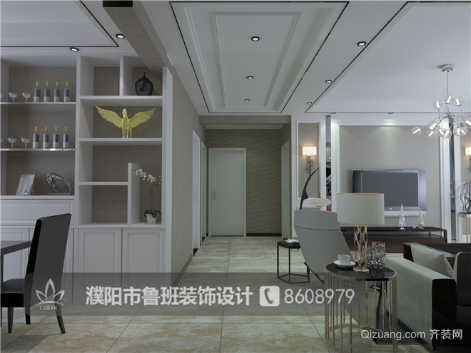香榭丽16-2-2201现代简约装修效果图实景图