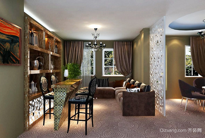 别墅欧式风格装修效果图实景图