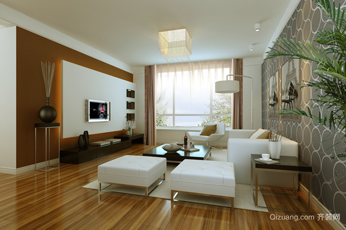 家装现代简约装修效果图实景图