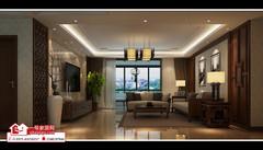 中式风格-郑州装饰观湖国际128平中式风格