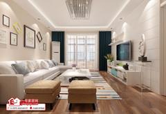 现代简约-郑州装饰褐石街区118平现代风格