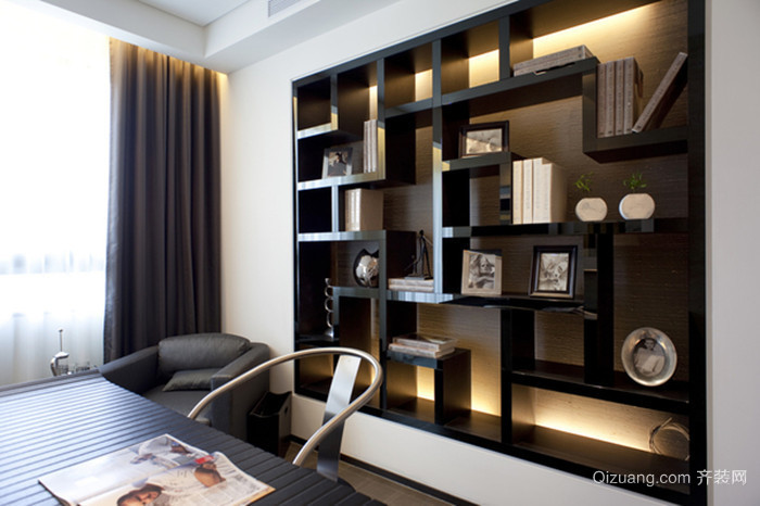 采菱公寓中式风格装修效果图实景图