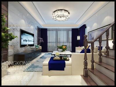 枣庄滕州和家园复式现代中式风格装修效果图及户型图装修设计案例