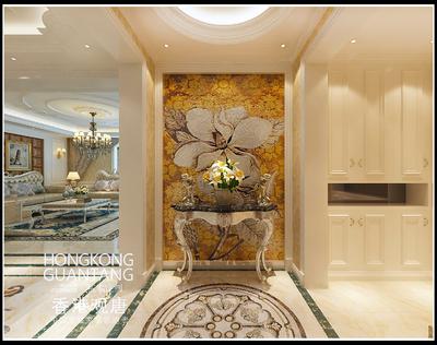 枣庄滕州星尚城法式风格装修效果图及户型图装修设计案例