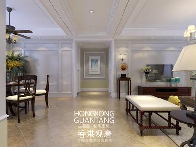 枣庄滕州滨江国际花苑美式风格装修效果图及户型图装修设计案例