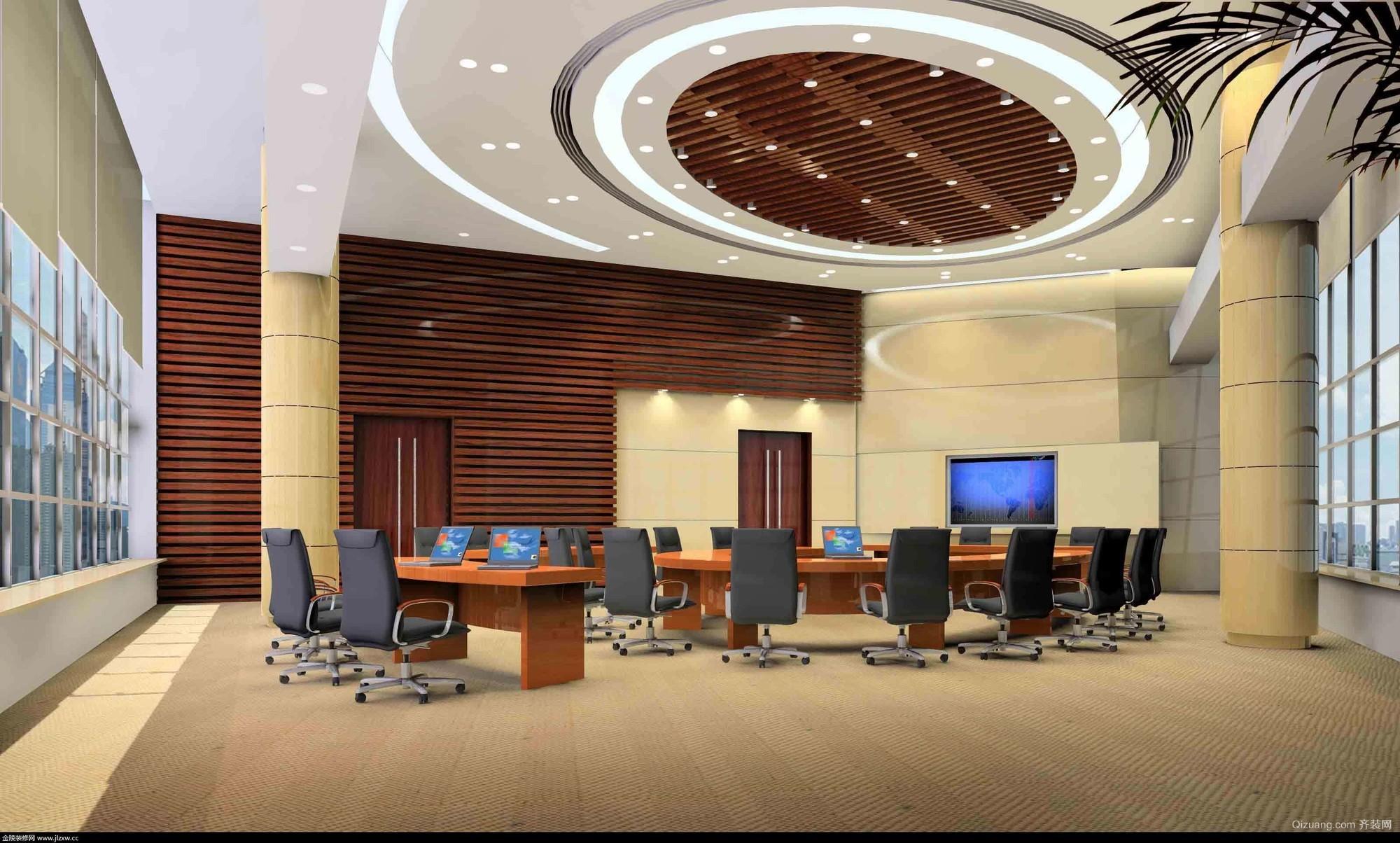 河源汇星公司会议室现代简约装修效果图实景图