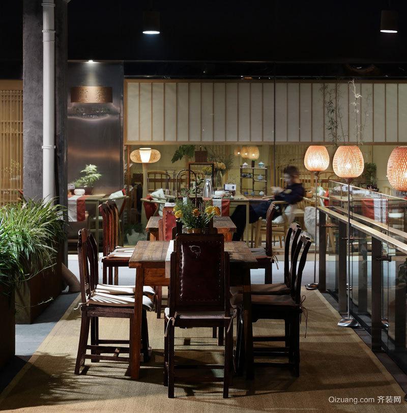 中贸广场中式风格装修效果图实景图
